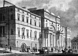The east facade of the University of Edinburgh as built in 1827