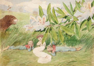 """In the shade"", painting by Charles Altamont Doyle"