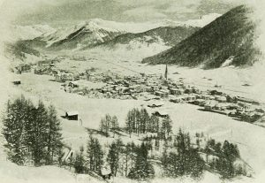 """Davos in Winter - from Tuberculosis in infancy and childhood : its pathology, prevention, and treatment"""" (1908)"""