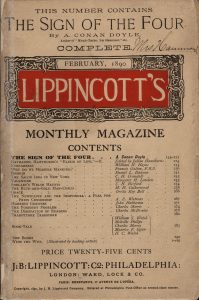 Lippincott's Monthly Magazine featuring The Sign of the Four.